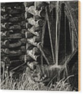 Water Wheel 3 Wood Print