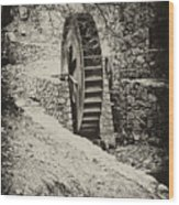 Water Wheel Wood Print