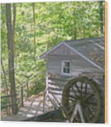 Water Wheel Wood Print