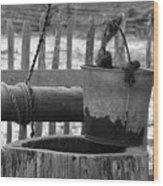 Waterbucket  Wood Print