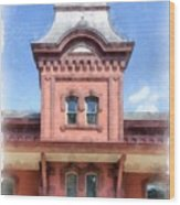 Waterbury Vermont Train Station Wood Print