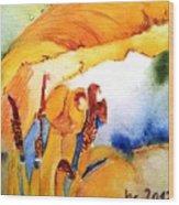 Watercolor .... Tulip Interiors Wood Print