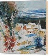 Watercolor  011040 Wood Print