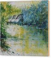 Watercolor  011108 Wood Print