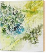 Watercolor 014042 Wood Print