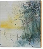 Watercolor  080708 Wood Print