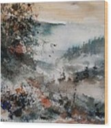 Watercolor  081108 Wood Print