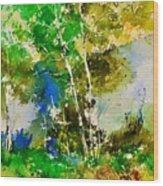 Watercolor 111061 Wood Print
