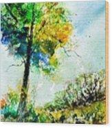 Watercolor 114062 Wood Print