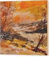 Watercolor 115011 Wood Print