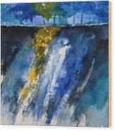 Watercolor 119001 Wood Print