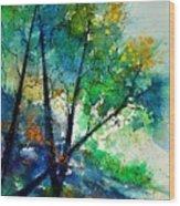 Watercolor 119042 Wood Print