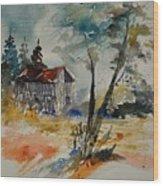 Watercolor 119070 Wood Print