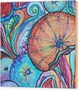Watercolor #4 Sea Urchins Wood Print