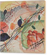 Watercolor 6 Wassily Kandinsky, 1911 Wood Print