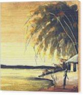 Watercolor 85 Wood Print