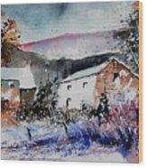Watercolor 902080 Wood Print