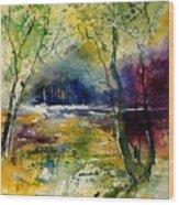 Watercolor  908010 Wood Print