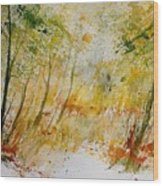 Watercolor  908012 Wood Print