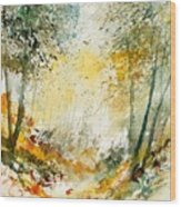 Watercolor  908021 Wood Print