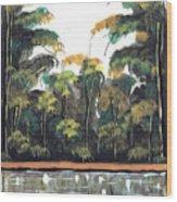 Watercolor 97 Wood Print