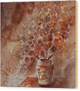 Watercolor Autumn Bunch Wood Print