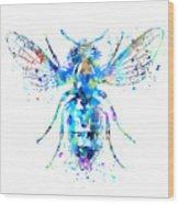 Watercolor Bee Wood Print