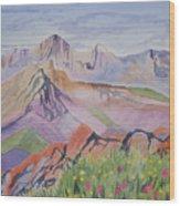 Watercolor - Blanca And Ellingwood Landscape Wood Print
