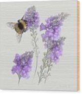 Watercolor Bumble Bee Wood Print