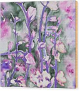 Watercolor - Cherry Blossoms Wood Print