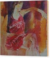 Watercolor Eglantine 1 Wood Print
