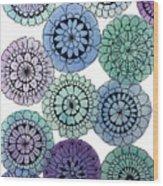 Watercolor Floral Mandalas Wood Print