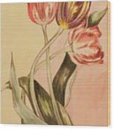 Watercolor Flowers Wood Print