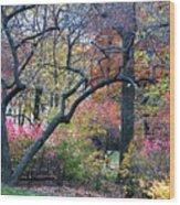 Watercolor Forest Wood Print by Lorraine Devon Wilke