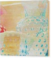 Watercolor Glassware Wood Print