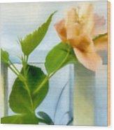 Watercolor Hibiscus Wood Print