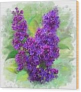 Watercolor Lilac Wood Print