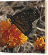 Watercolor Monarch Wood Print