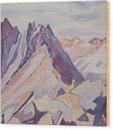 Watercolor - Near The Top Of Mount Sneffels Wood Print