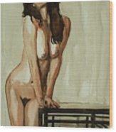Watercolor Nude 1 Wood Print