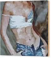 Watercolor  Nude 100405 Wood Print