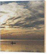 Watercolor Paddle - Kayaking Through A Glorious Silken Morning Wood Print