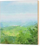 Watercolor Painting Of The English Countryside Wood Print