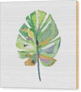 Watercolor Palm Leaf- Art By Linda Woods Wood Print