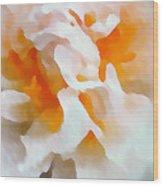 Watercolor Peonie Wood Print
