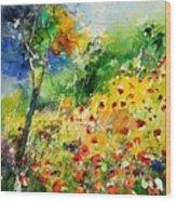 Watercolor poppies 518001 Wood Print