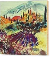 Watercolor  Provence 07 Wood Print
