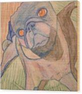 Watercolor Pug Wood Print