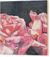 Watercolor Roses Wood Print