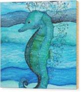 Watercolor Saehorse Wood Print